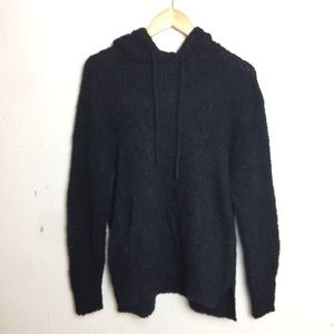 All Saints Oversized Fit Hooded Wool Sweater Small